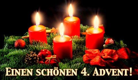 Vierte Advent Kerze
